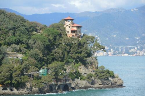 Portofinoのお散歩道から絶景が臨めます