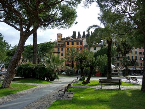 住人の憩いの場、Portofinoの公園